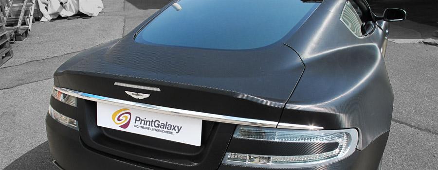 Aston Martin DBS Carbonstrukturfolie, Heckansicht
