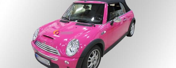 Mini Cooper S Cabrio pink