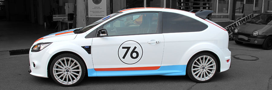 Ford Focus RS in Gulf Design beklebt
