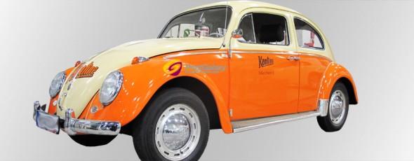 VW Käfer im Pfanni-Retrodesign