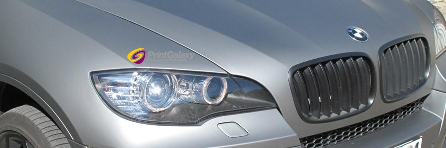 BMW X6 M mit graphite matter Folie beklebt..