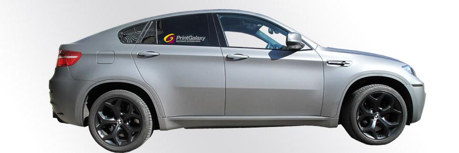 BMW X6 M mit graphite matter Folie beschichtet.
