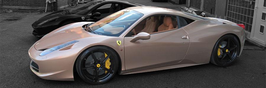 Ferrari 458 Italia gold